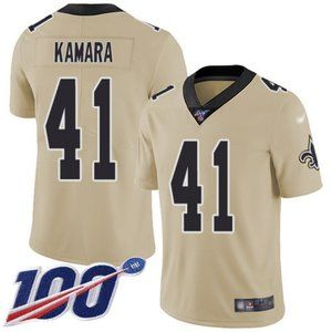 Saints Alvin Kamara 100th Season Jersey